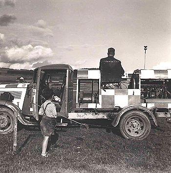 Die Winde zum Segelstart anno 1954